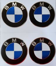 4 x 65mm Diameter Cheap New Wheel Cap Sticker Self Adhesive Logo Emblem BMW