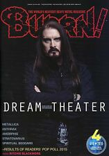 Burrn! Heavy Metal Magazine April 2016 Japan Dream Theater Metallica Anthrax