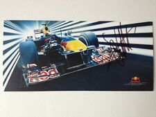 Sebastian Vettel, Hand Signed / Autographed 2010 Red Bull Racing Drivers Card