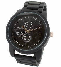 Fashion Designer Big Daddy Oversize Style Steel Watch Black Whit Dial Gents