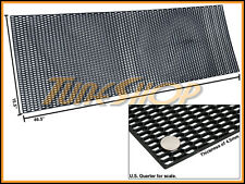 """PLASTIC ABS UNIVERSAL BLACK SPORT MESH GRILL GRILLE CAR STOCK OE STYLE 15""""X46"""" E"""
