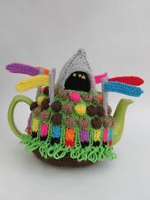 Glastonbury Festival Tea Cosy Knitting Pattern - knit your own Glasto Fest Cosy