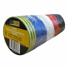 Repelec ASSORTED  PVC ELECTRICAL INSULATION TAPE Strong Adhesion 20mx19mm, 10pcs