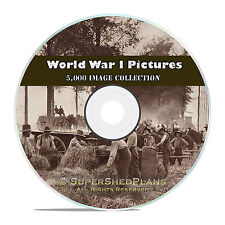 5000 WWI Photos and Pictures Collection, including Vintage War Posters on CD