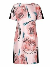 Fab LK Bennett Pink Aqua Black Floral Sarva Rose Tunic Dress Size 16 New  £275