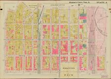 1908 JERSEY CITY, HUDSON COUNTY, NEW JERSEY, HAMILTON PARK, COPY PLAT ATLAS MAP