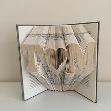 Folded Book Art Personalised Initials Engagement Wedding Anniversary Gift