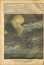 Chicago Accident Ballooning Death of the French aviators Godardand Panis 1891