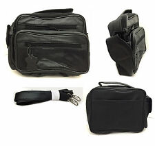 Mens Womans Messenger Bag Man Bag Shoulder Bag In Black Leather Camera Travel