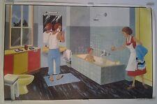 le grand magasin la salle de bain années 50 affiche scolaire OGÉ-HACHETTE
