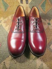 Brown Florsheim Saddle Shoes Metal Spiked Tip Golf Shoes size 9 B Made in USA