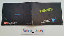 Nintendo NES Tennis Notice / Instruction Manual