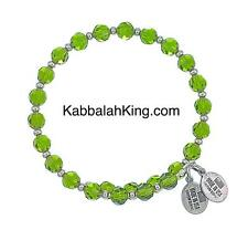Wind & Fire 6mm Peridot Crystal With Spacer Bead Stackable Bangle Bracelet USA