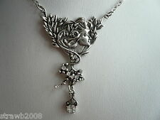 Woodland Fée collier pendentif Faery FAE Antique Steampunk aspect argent boho