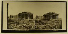 Plaque de Verre Stéréo Ferrier Parthénon Athènes Grèce Vers 1860