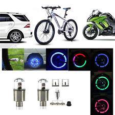 Coloful LED Wheel Tyre Tire Air Valve Stem Cap LED Light Lamp Car Wheel Decor