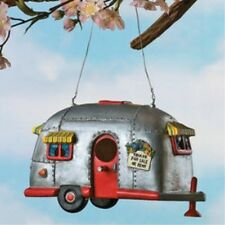 Camper Birdhouse Trailer Bird House Airstream Style RV Home Decor Yard Garden