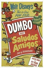 The Three Caballeros movie poster  (f) : 11 x 17 inches : Saludos Amigos poster