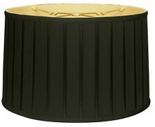 Shallow Drum English Box Pleat Lamp Shade (BS-748)