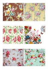Vintage Floral Wallpaper  A4 Iced / Icing / Frosting Cake Topper Edible Flowers