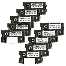 Set of 10 CASIO CW-50 CW-75 CW-100 BLACK CD Label Printer Ink Ribbons Cassette