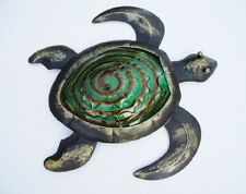 Bronze Sea Turtle Wall Art Glass & Metal Decor Coastal Nautical Indoor Outdoor
