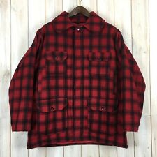 Vintage Woolrich Plaid Mackinaw Hunting Field Jacket USA Cruiser Buffalo L / XL