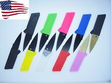 10 Multi Color Credit Card Knives folding wallet pocket survival micro knife EDC