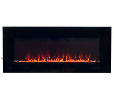 Electric Fireplace Heater Wall Mount Mounted Insert LED Fire and Ice 36 Inch