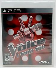 NEW SEALED PS3 The Voice: I Want You Party Video Game Concert Star singing sing