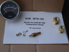 SUN WT-260 temp gauge sending unit new 1/8 inch NPT, with adapter