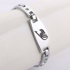 Fairy Tail Bracelet Wristband Guild Logo Symbol Alloy Silver Collection Gray