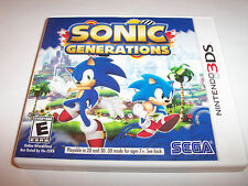 Sonic Generations (Nintendo 3DS) XL 2DS Game w/Case & Manual