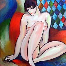 JZ Art Déco- Dans l'atelier -Tableau original Peinture à l'Huile sur toile