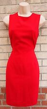 PRINCIPLES PETITE RED FORMAL TAILORED PENCIL TUBE BODYCON RARE WORK DRESS 12 M