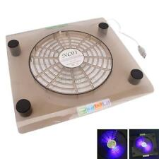 "USB Big Fan Laptop 14.1""-15.4"" PC Notebook LED Light Cooling Cooler Pad Tawny"