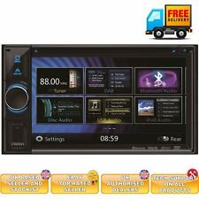 Clarion NX404E Double din fixed in Car Sat Nav GPS system Bluetooth 6.2""