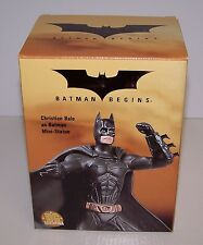 "Batman Begins Christian Bale Batman 4"" Mini Statue Hand Painted NIB DC Direct"