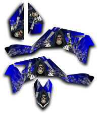 SUZUKI LTR450 R GRAPHICS DECAL KIT GRIM REAPER REVENGE Sticker LTR 450 BLUE