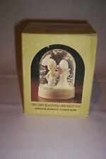 "PRECIOUS MOMENTS ""THE LORD BLESS YOU AND KEEP YOU"" SNOW GLOBE # E-7007 1982 NIB"