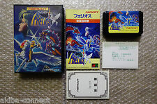"Phelios + Registrati​on Card ""Very Good Condition"" Sega Megadrive Import Japan"