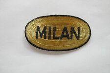#2472 Gold,Black MILAN Word Badge Embroidery Iron On Applique Patch