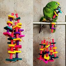 Parrot Macaw Cage Chew Toys Pet Bird Conure Swing Scratcher Bites Toy Colorful