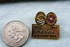 CURLING LAPEL PIN 1927-1987 N A L C A BONSPIEL