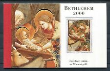 Palestine Bethlehem 2000 Gold Booklet Christmas Dome of The Rock x21863