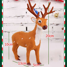 HOT  Christmas Deer Simulation Reindeer Ornaments Room Decoration Party Supply