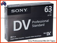 5x Sony DVM63PS PROFESSIONAL MiniDV Tape / Cassettes DVM63PS Mini DV Tape 5 PK