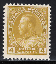 Canada 4c KGV Admiral, Scott 110, F-VF MNH, catalogue - $138