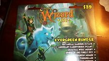 Brand new Wizard 101 EVERGREEN Bundle Wolf Mount House Prepaid Game Card CROWNS