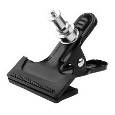 """Metal Clamp Strong Clip With 1/4"""" Screw Adapter for DSLR Flash Light Stand HLRG"""